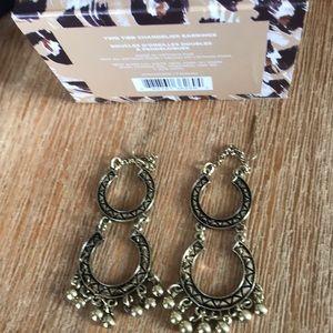 NIB two tier chandelier earrings